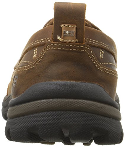 Skechers Superior-Gains Pelle Mocassini Marrone (marrone)
