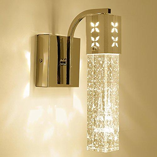 Licht H Wandleuchten Bubble Kristall Wand Lampe Wohnzimmer Flur Gang Schlafzimmer Nachttisch Einfache Dekorative Wandleuchte Wandbeleuchtung (Farbe : Gelb, Größe : 10*10*25cm) (Bubble Wandleuchte)