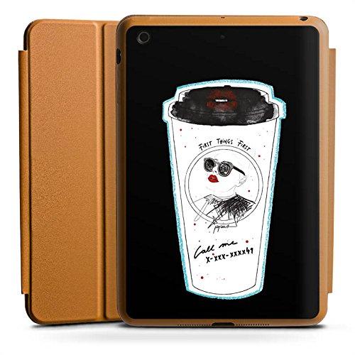 d Mini 4 Smart Case karamell Hülle mit Ständer Schutzhülle Coffee Kaffee Becher ()