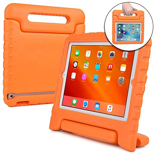 Cooper Cases(TM) Dynamo iPad 2/3/4 Kids Case in Orange + Free Screen Protector (Lightweight, Shock-Absorbing, Child-Safe Eva Foam, Built-in Handle and Viewing Stand)