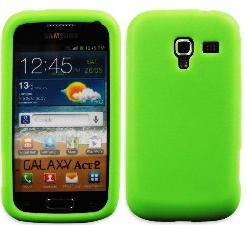 Luxburg In-Colour Design Custodia Cover per Samsung Galaxy Ace 2 GT-I8160 colore claro verde/verde, in silicone