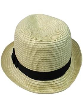 RHX Unisex Strohhut / Panamahut für Sommer und Strand, Beige