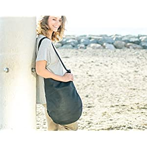 Große schwarze Ledertasche , schwarze Ledertasche , Handwerk Tasche, Leder