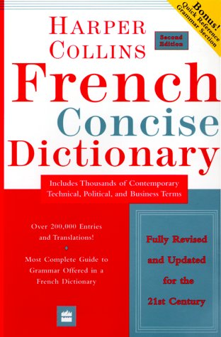 Harpercollins French Concise Dictionary: Plus Grammar