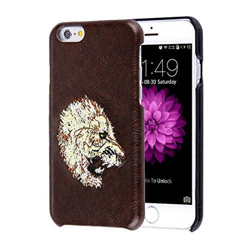 Wkae Case & Cover Pour iPhone 6 &Skin Oil 6s Texture broderie motif léopard PU Coller peau étui de protection PC ( SKU : IP6G0536A ) IP6G0536E