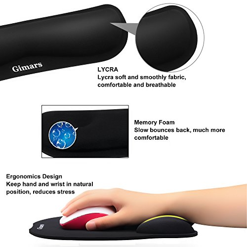 Zoom IMG-2 gimars cuscini poggiapolsi e mouse