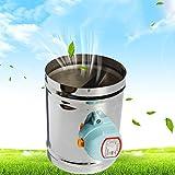 TOOGOO 125mm edelstahl luftklappe ventil HVAC elektrische luftkanal motorisierte daempfer fuer 5 zoll lueftung rohrventil 220 V