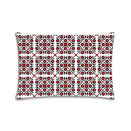 Fashion Zippered Pillow Case Dot Pillow Cover 20X30 Twin Sides Dots Case Cover