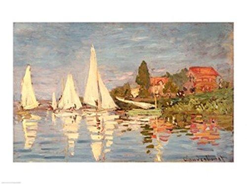 The Poster Corp Claude Monet - Regatta bei Argenteuil Kunstdruck (60,96 x 45,72 cm) - Claude Monet-regatta Bei Argenteuil