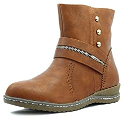 Shuberry Womens Latest Collection, Comfortable & Fashionable Tan High Top Boots - 38 EU