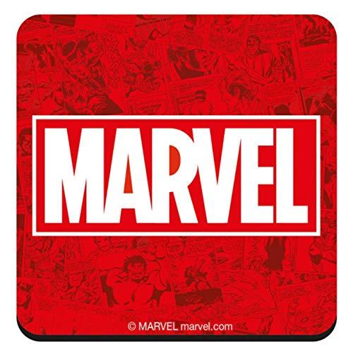Marvel Comics Marvel Logo Single Untersetzer Getränkematte Vintage Retro Avengers