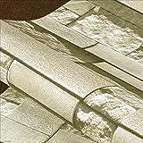 ZDYLL 3D Stein Brick Wallpaper, PVC Peel und Stick Wallpaper für Home Design und Zimmer (Farbe : Blue Brick)