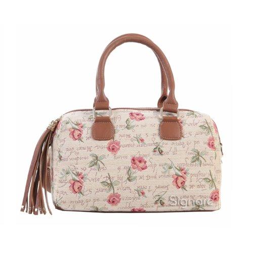 Signare sac d'épaule à poignée tapisserie mode femme Rose Rose