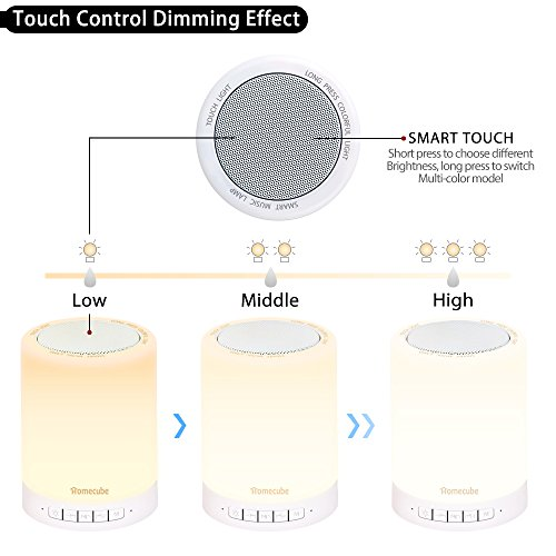 Bluetooth-Speaker-Lamp-Homecube-Bedside-Lamp-with-Wireless-Bluetooth-Speakers-Touch-Dimmable-Table-Lamp-Night-light-with-TF-Card-AUX-Supported-Hands-free-Speakerphone-Metal-Handle-for-Children-bedroom