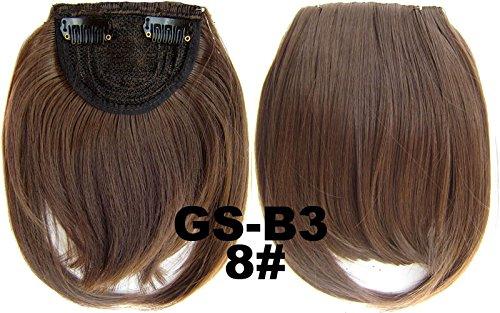 # 8100% Hochtemperatur Kunsthaar Clip in/on vorne Hair Fringe Haar Pony Fringe Pony
