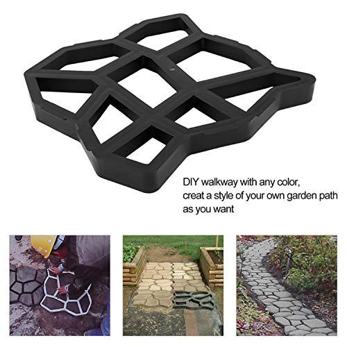 FairytaleMM DIY unregelmäßige/rechteckige Muster personifizierte Pflasterungs-konkreter Ziegelstein-im Freien dekorativer Garten-Pfad-Hersteller-Rasen, schwarz