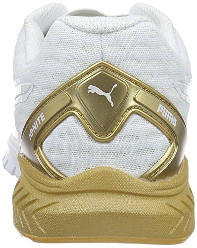 Puma Ignite Dual Gold, Running Femme Blanc (White/Gold)