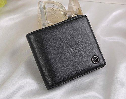 Borsa mini borsa magica del supporto della carta del raccoglitore di cuoio mini (maglia blu) Blu