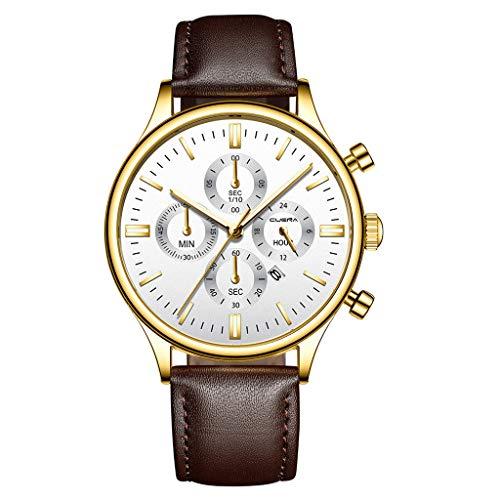 YEARNLY Herren Uhren Mode Wasserdichte Chronograph Quarz Uhr für Mann Luxus Business Kleid mit Schwarzem Edelstahlgewebe (Mk Rose Gold-männer Uhren)