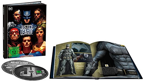 Justice League als Digibook (Limited Edition) (4K Ultra HD + 2D Blu-ray) [Blu-ray] (Batman Ben Affleck Kostüm)