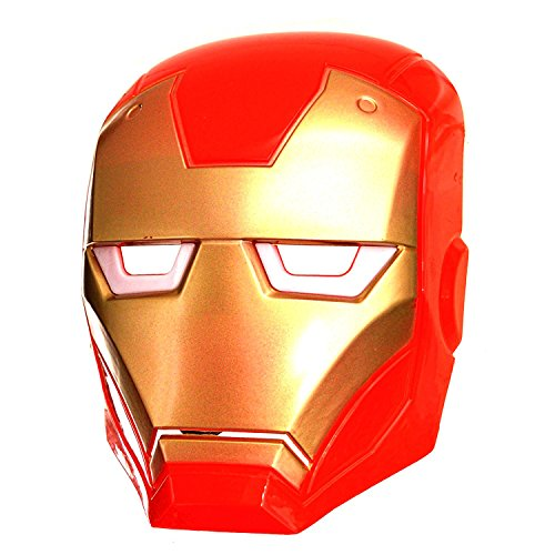 The Avengers Iron Man Light Up Maske Augen Marvel Superhelden Kostüm Zubehör (Iron Avengers Man Kostüm)