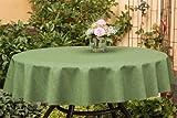 ODERTEX Hochwertige Tischdecken Farbe & Größe wählbar 150 cm rund grün Oslo aus Deutscher Produktion