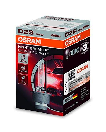 Osram XENARC NIGHT BREAKER UNLIMITED D2S HID Xenon-Brenner, Entladungslampe, 66240XNB, Faltschachtel (1 Stück) -