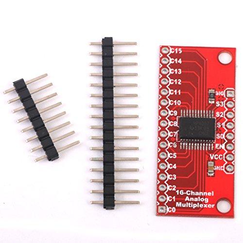 Homyl 16-Kanal Analogschalter Breakout Modul Drehschalter für Multiplexer / Demultiplexer CD74HC4067 Inkl. 2 Reihe von Stifte -