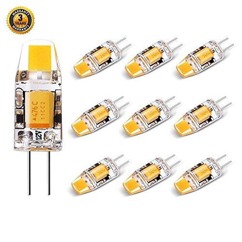 10w Ersatz (G4 LED Warmweiss 10er Pack 1.2W Ersetzt 10W Halogen,AC/DC12V 120LM 2800K Nicht Dimmbar)