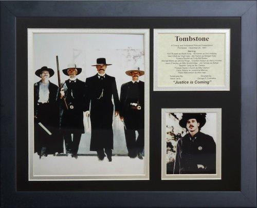 Legenden Sterben Nie Grabstein II gerahmtes Foto Collage, 11x 35,6cm