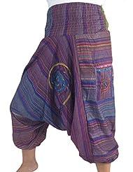 Damenhose Pumphose / Shalwarhose / Aladinhose in Ethno - Style, Baggy