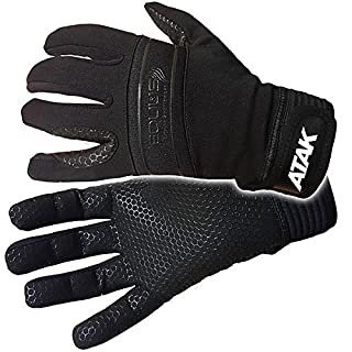 ATAK EQUSS HORSE RIDING GLOVES - BLACK WITH SILICON GRIP FOR WET CONDITIONS (CHILD 4)