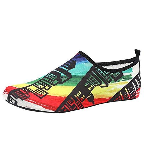 EU36-EU49 ODRD Schuhe Herren Damen Wasserschuhe Barfuß Quick-Dry Aqua Socken Strand Schwimmen Surf Übung Combat Hallenschuhe Worker Boots Laufschuhe Wanderschuhe Sneakers Sport