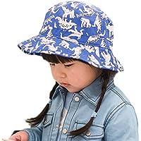 COMVIP Niñas Dinosaurio Impreso Summer Sun Protección del sombrero ... 6fafba45864