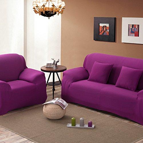Elastische schonbezug sofa,Sofabezug Anti-rutsch-sofa slipcovers Möbel-beschützer zu werfen Abdeckung Europäische sofa-stoffbezug -Lila Sessel (Schonbezug Sofa Lila)