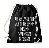 Youth Designz Turnbeutel mit Spruch/Beutel Tasche Rucksack Jutebeutel Sportbeutel/Modell SINNE