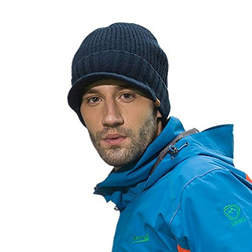 p / Unisex Wintermütze / Beanie / Strickmütze mit Schirm (News Junge Hats)