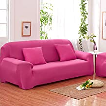 Sofás De 3 Plazas Covers 7 Colores Sólidos Estuche De Estiramiento Completo Tela Elástica Soft Sofá