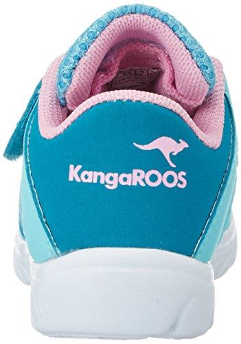 KangaROOS Unisex-Kinder Inlite 4003 Low-Top Türkis (dk smaragd/LT ROSE)