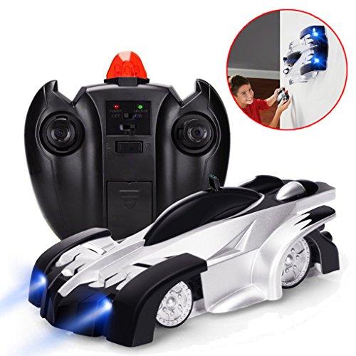 VIDEN Ferngesteuertes Mini-Kletter-Funksteuerung, Dual-Modus, 360° drehbarer Stunt, für Zuhause, Schwerkraft-Spielzeug, Auto, Kinder-Rennfahrzeug Modell, Schwarz