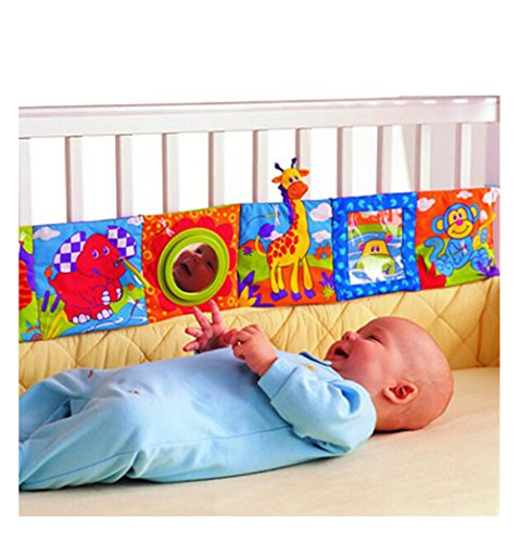 ODN Kids Mirror Animal Bed Cognize Cloth Book Infant Baby Toy Cute Popular Baby Toys 0-12 Months
