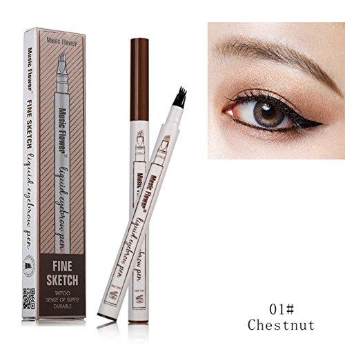 FangSi 2018 Tattoo Eyebrow Pen cuatro puntas duraderas