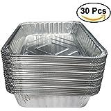 BESTOMZ Bandejas Aluminio Bandejas de Goteo para Barbacoas 570ml 30 Unidades