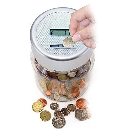 rostrad® Elektronische Münzsortierer Automatische Geld Bank Einsparung ändern Jar Büro Kinder Zimmer