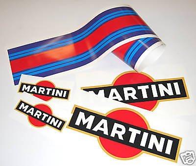 MARTINI LE MANS stil AUTO LAMINIERT aufkleber set Aufkleber porsche tvr -