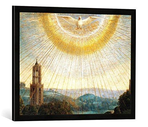 Gerahmtes Bild von Jan Van Eyck Jan v.Eyck, Genter Altar: HL.Geist/ 1432