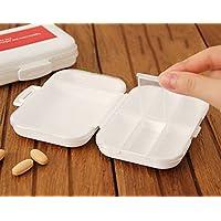 dahanbl rot und weiß Pillendose Kunststoff Organisieren 8Partition Tragbare Pille Aufbewahrungsbox preisvergleich bei billige-tabletten.eu