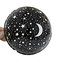 Star Projector Black Plastic Night Light Projector Stars and Moon Cover