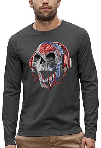 Camiseta de Manga Larga cráneo