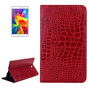 Crazy4Gadget Crocodile Texture Leather Case with Holder for Samsung Galaxy Tab 4 8.0 / T330 (Red)